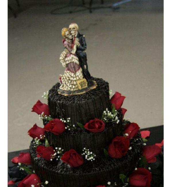 Cake topper con calaveras 💀💀 17