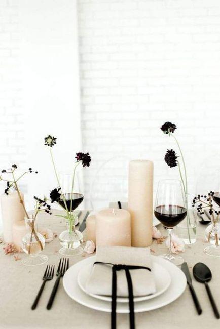 Decoración minimalista: centros de mesa 1