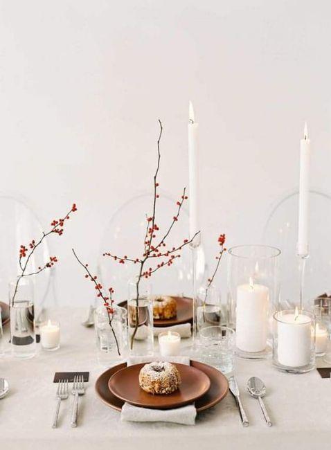 Decoración minimalista: centros de mesa 2