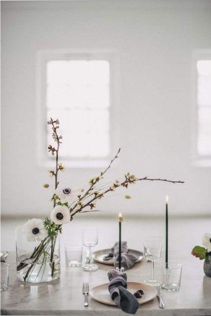 Decoración minimalista: centros de mesa 3