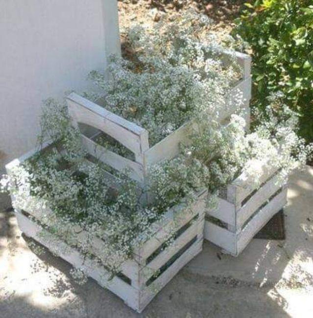 Decoración con flor paniculata 7