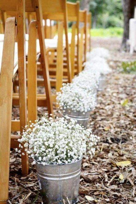 Decoración con flor paniculata 12