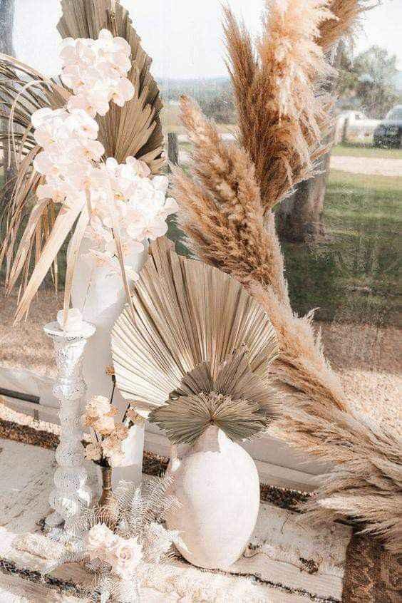 Utiliza palma seca en la decoración - 1