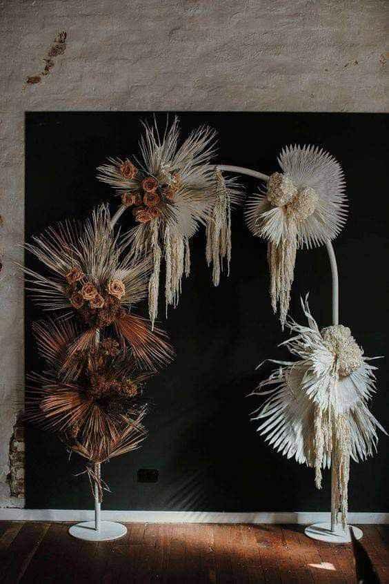 Utiliza palma seca en la decoración - 3