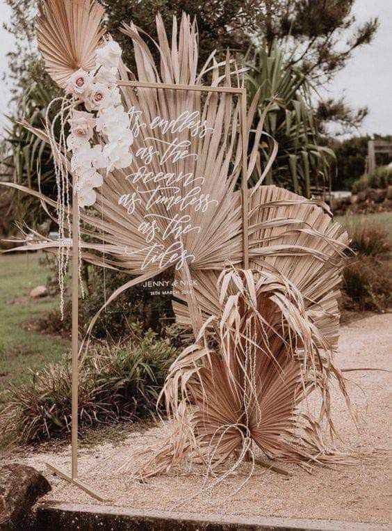 Utiliza palma seca en la decoración - 4