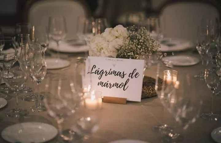 Personaliza tus mesas dándoles nombres originales 2