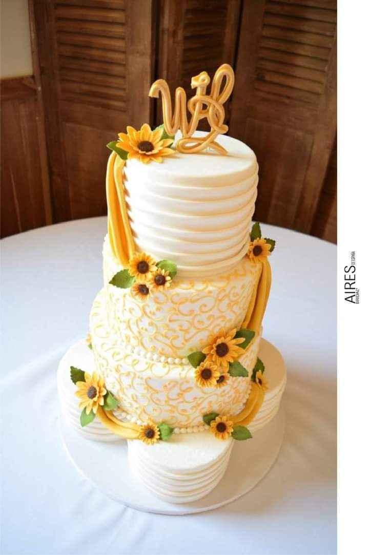 Girasoles para tu pastel 1