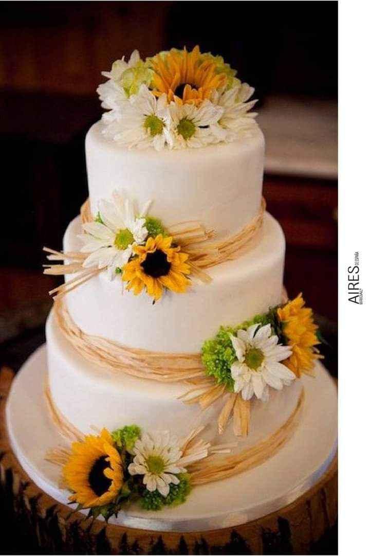 Girasoles para tu pastel 2