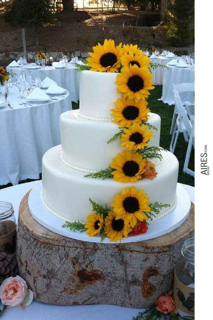 Girasoles para tu pastel 3
