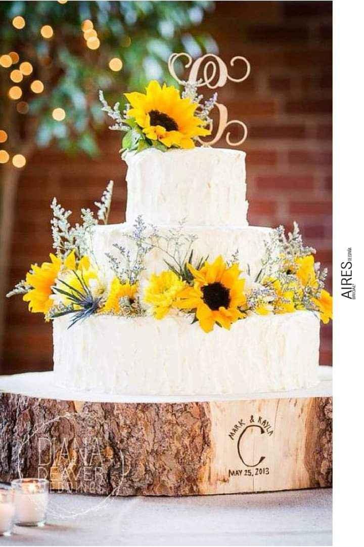 Girasoles para tu pastel 5