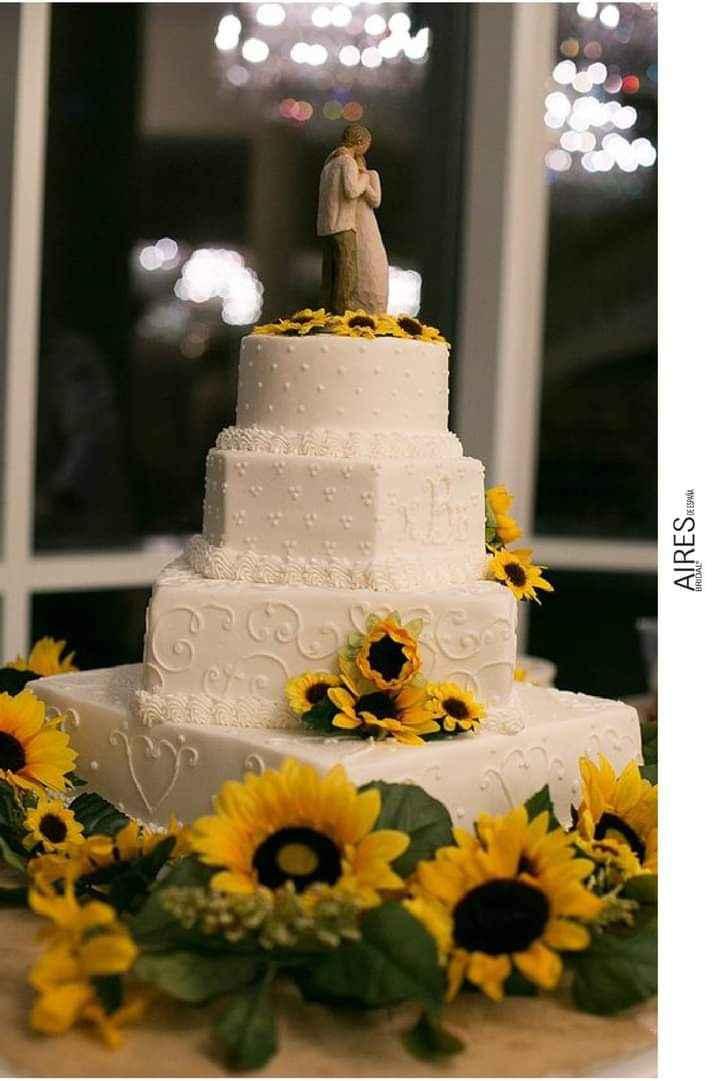 Girasoles para tu pastel 6