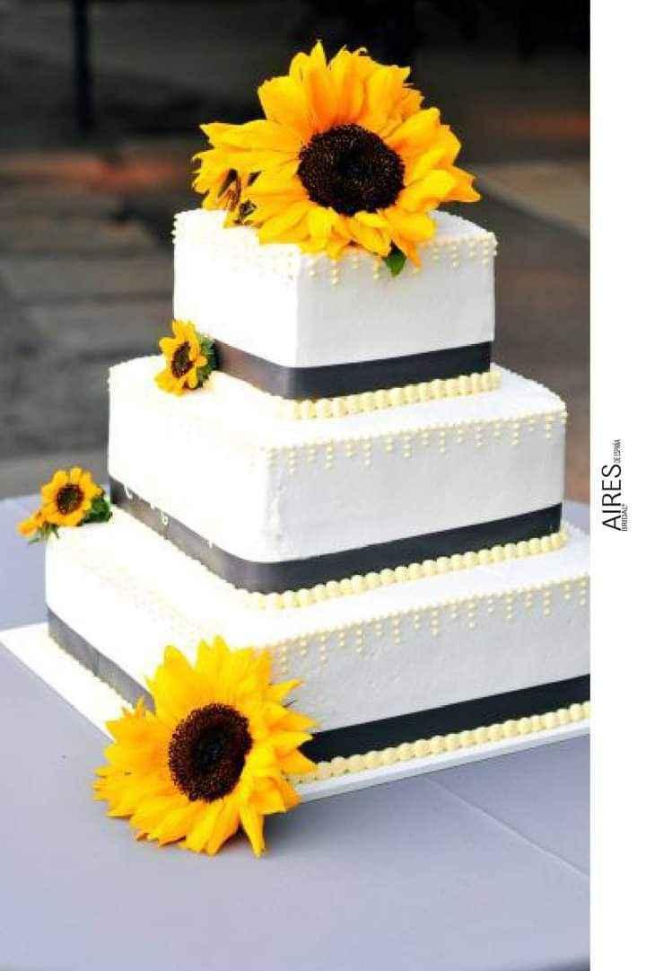 Girasoles para tu pastel 7