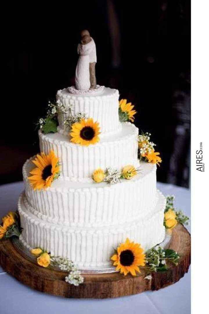 Girasoles para tu pastel 8