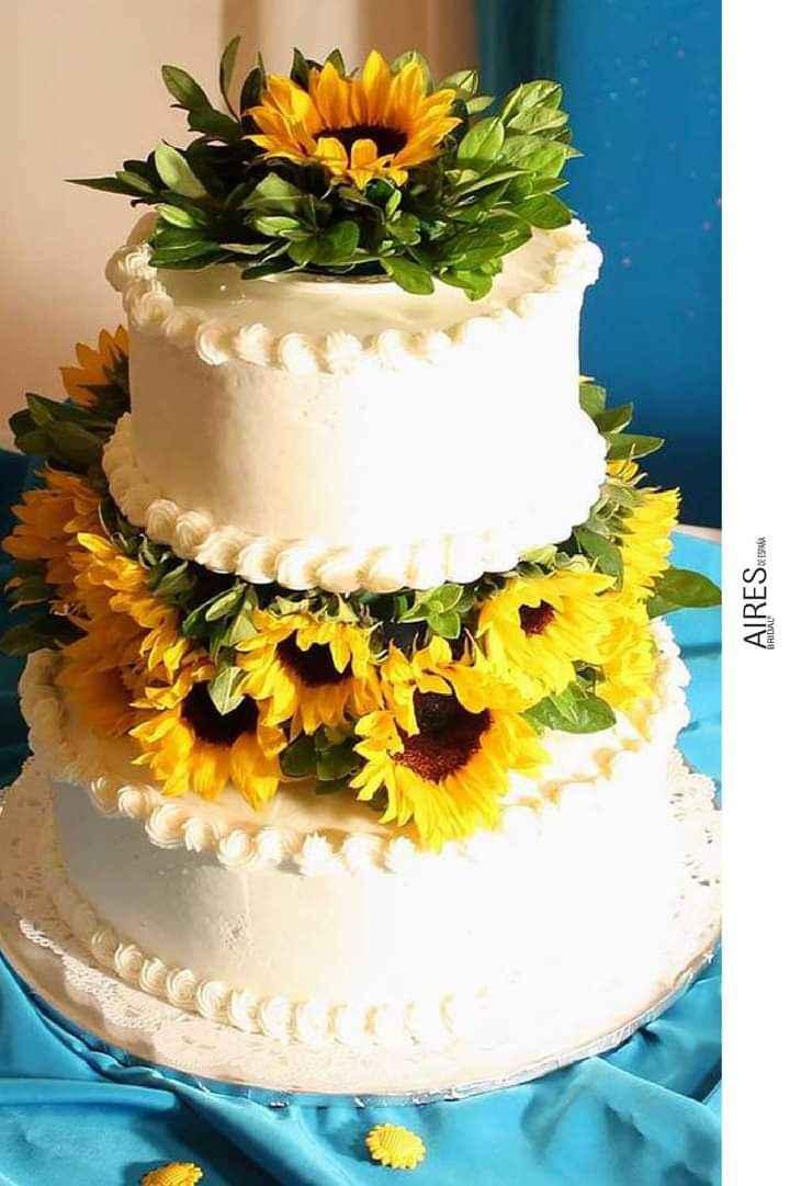 Girasoles para tu pastel 9