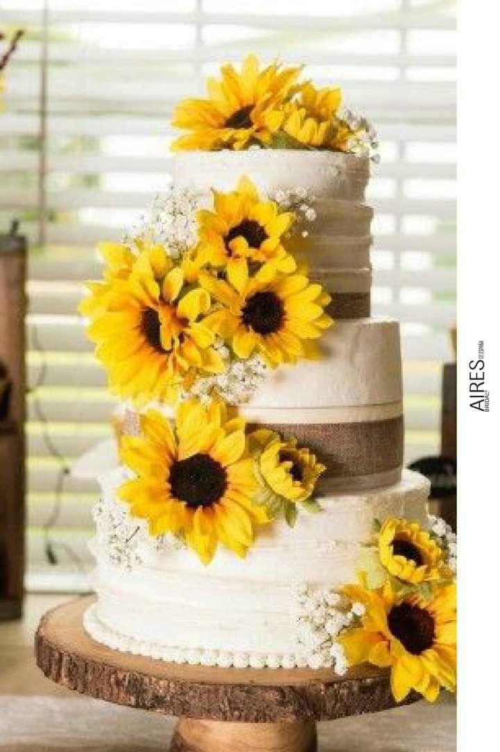 Girasoles para tu pastel 10