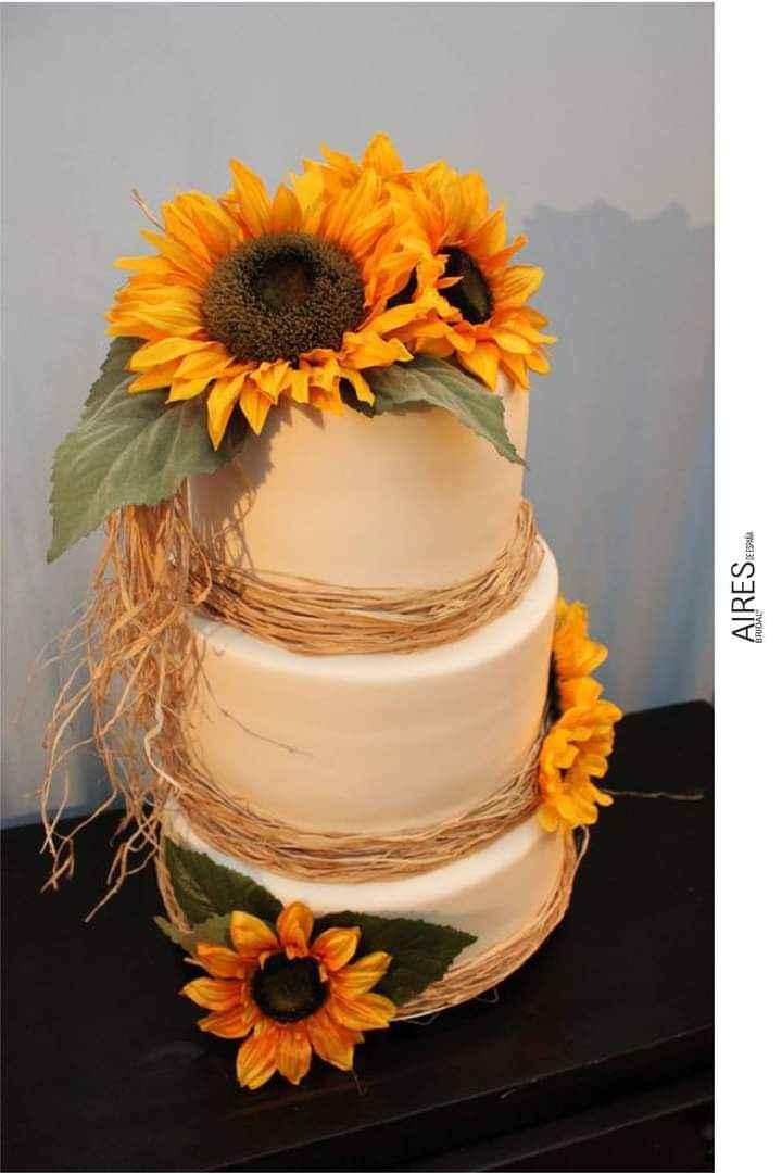 Girasoles para tu pastel 11