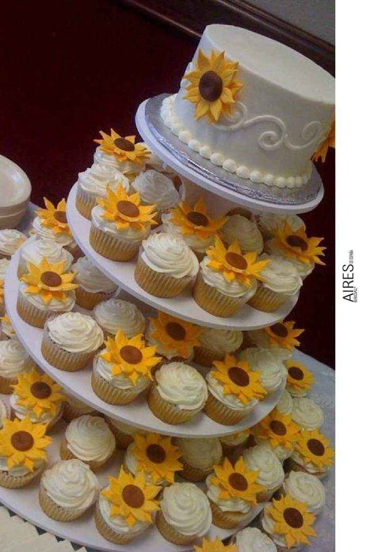 Girasoles para tu pastel 12