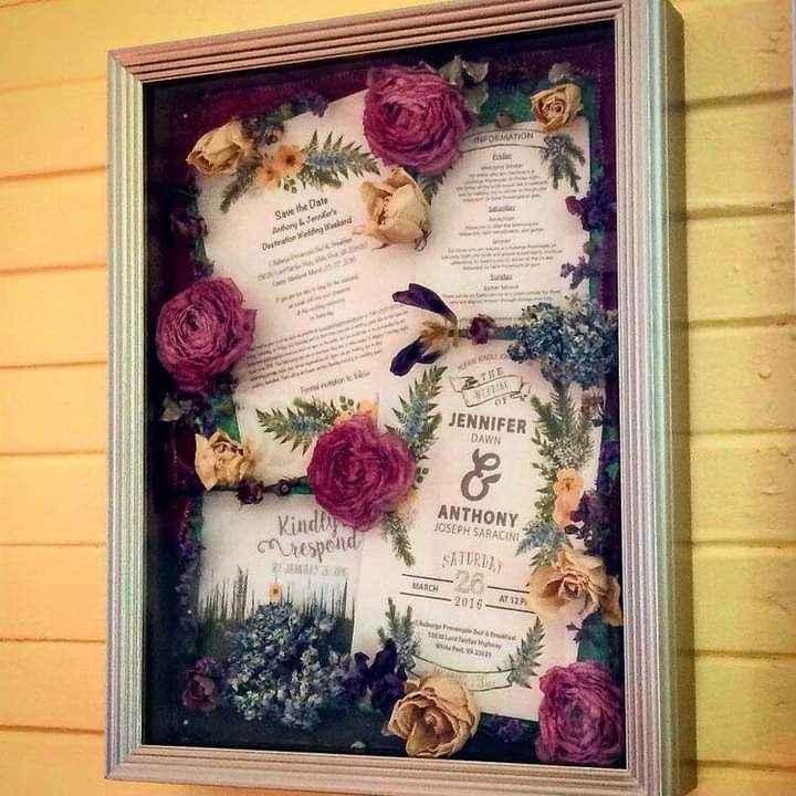 Flores preservadas en un marco especial 3