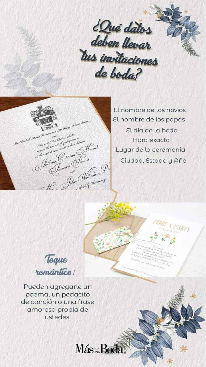 Datos en tus invitaciones 1