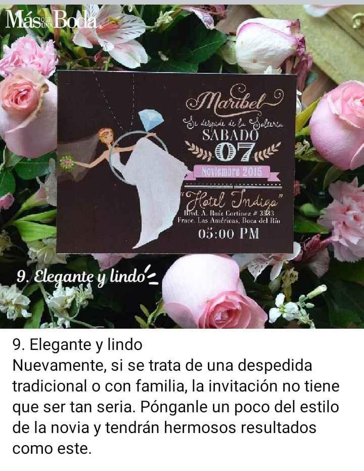 Invitaciones para despedida de soltera 10