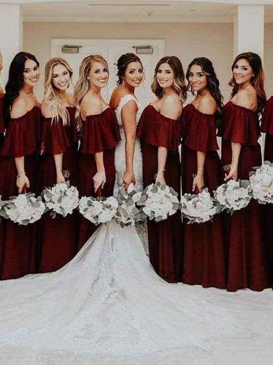 Otoño: vestidos para damas de honor 1