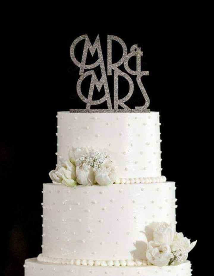 Glitter plateado en tu cake topper - 2
