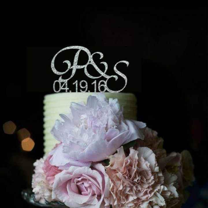 Glitter plateado en tu cake topper - 4