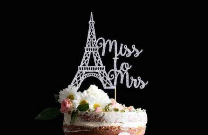 Glitter plateado en tu cake topper - 5