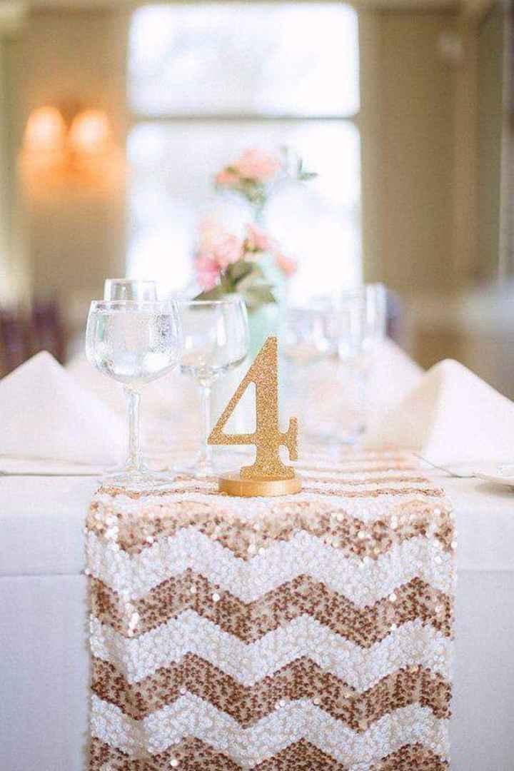 En tus mesas:números con glitter dorado - 1