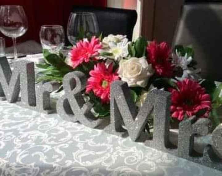 En tu mesa: letras con glitter plateado - 2