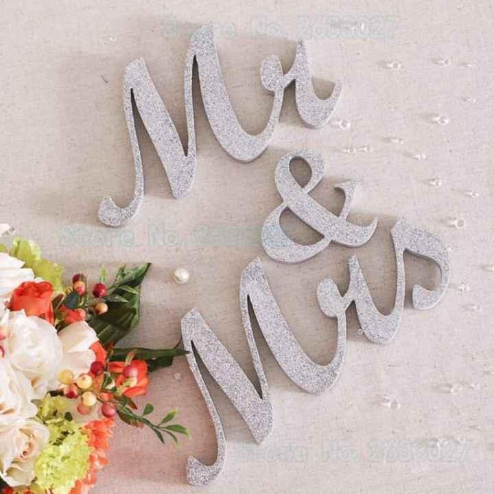 En tu mesa: letras con glitter plateado - 3
