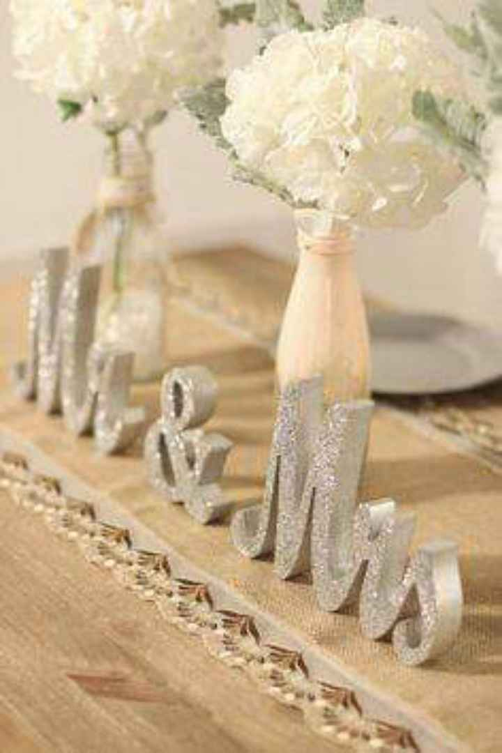 En tu mesa: letras con glitter plateado - 4
