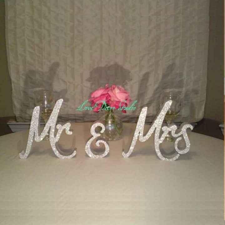 En tu mesa: letras con glitter plateado - 5