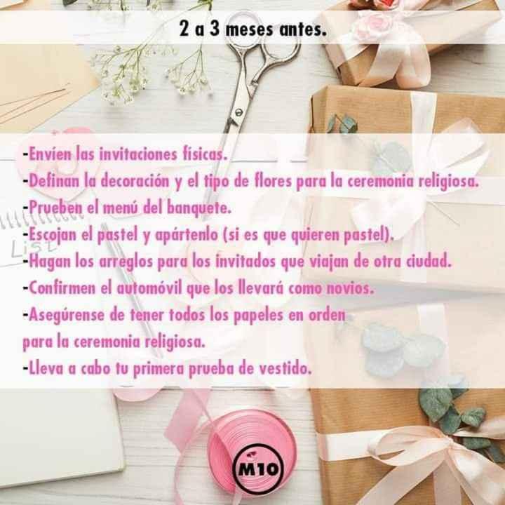 Organízate para tu boda - 5