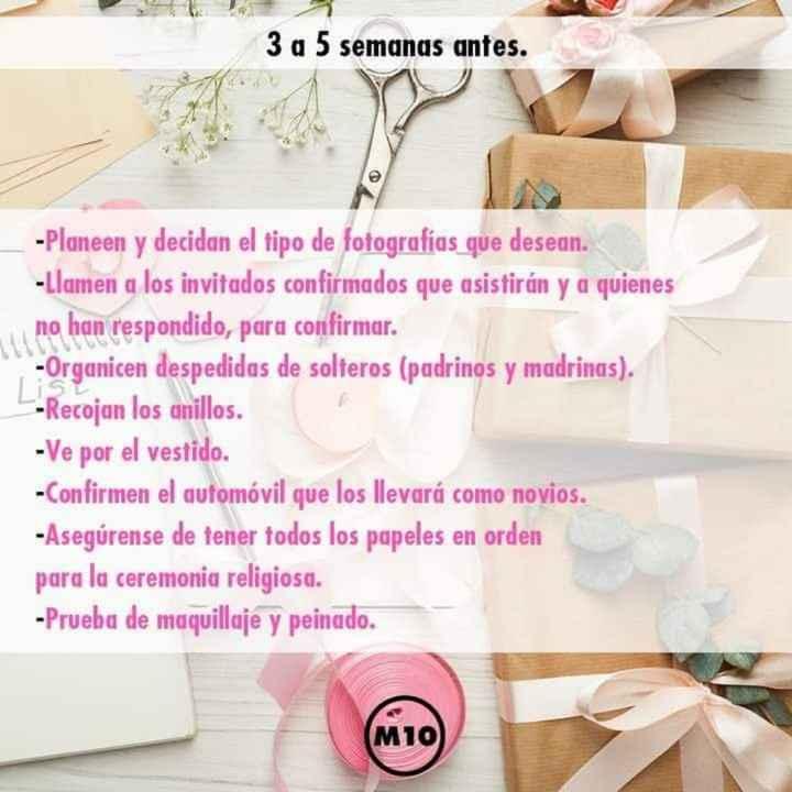Organízate para tu boda - 6