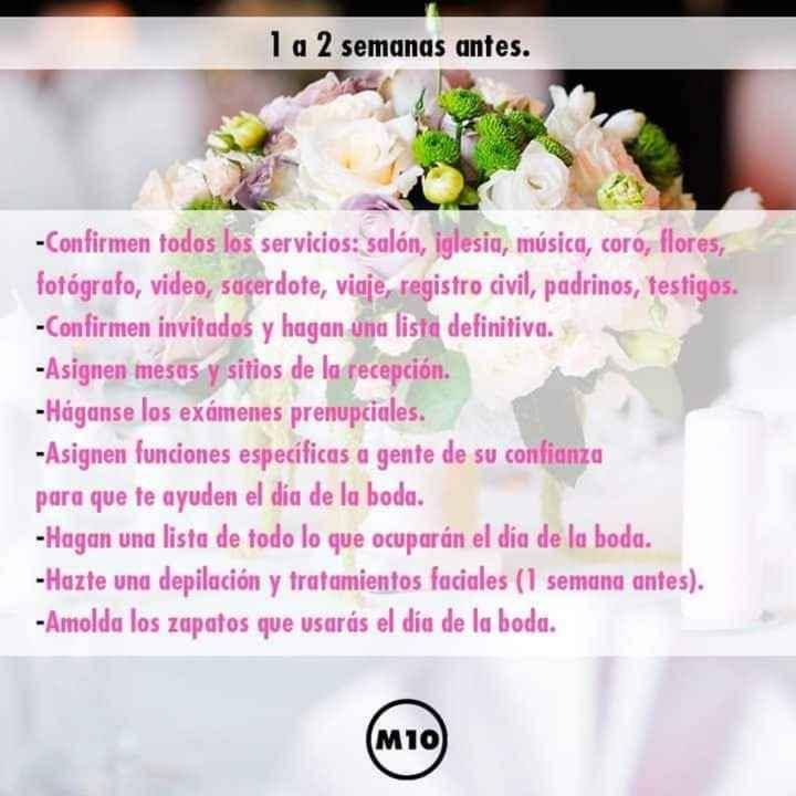 Organízate para tu boda - 7