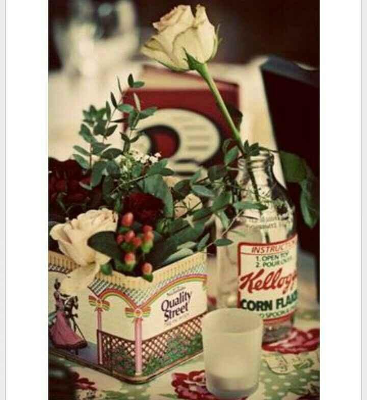Latas vintage como centros de mesa - 15