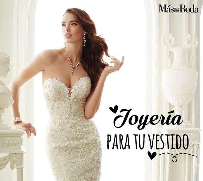 Joyas para vestido de novia strapless