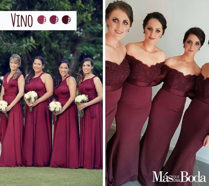 Vestidos para damas de honor vino