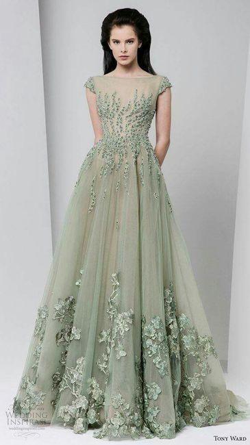 vestidos para novia en color verde - foro moda nupcial - bodas.mx