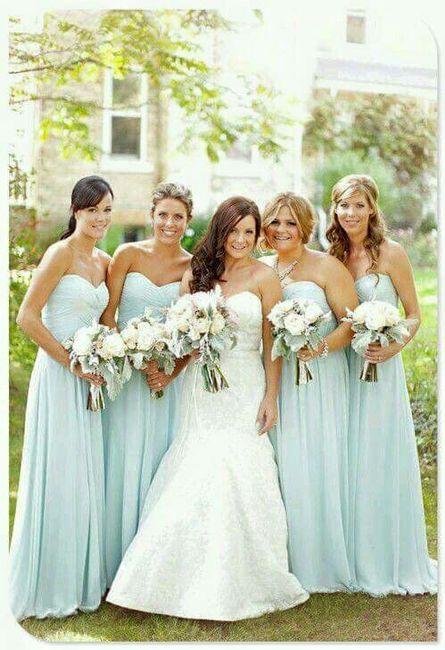Vestidos para damas de honor color verde agua