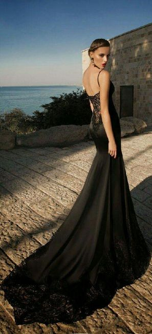 vestidos de novia negros - foro moda nupcial - bodas.mx