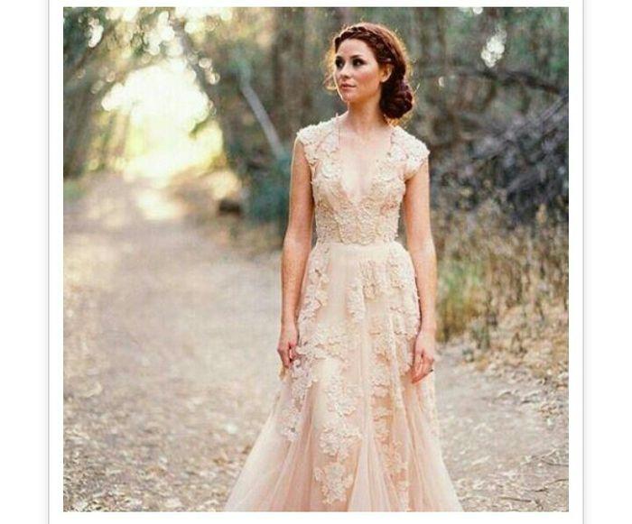 vestidos de novia en color nude - foro moda nupcial - bodas.mx