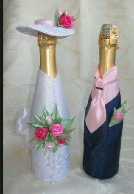 Botellas decoradas para el brindis foro manualidades for Decoracion de calabazas manualidades
