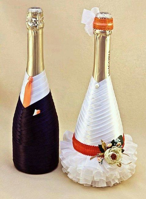 Botellas decoradas para el brindis foro manualidades - Manualidades para una boda ...