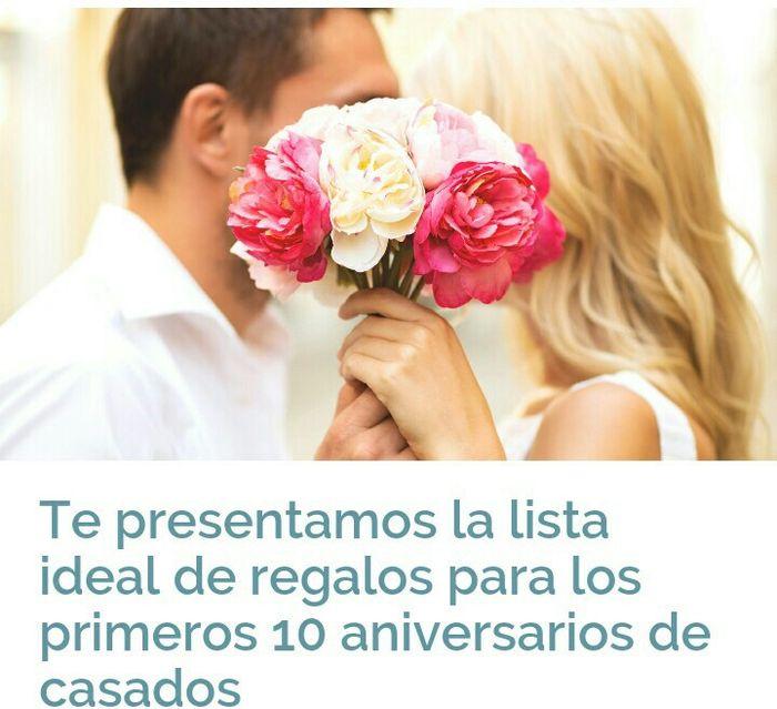 ideas para regalos de aniversarios de bodas foro