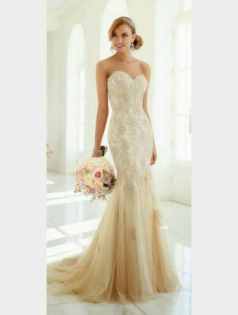Vestidos de novia color oro viejo