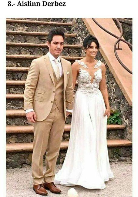 ad543cb06 Los vestidos de novia de famosas mexicanas - Foro Bodas famosas ...