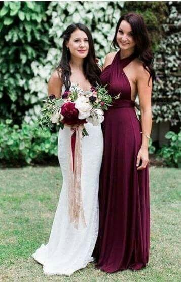 Vestidos bonitos para damas de boda