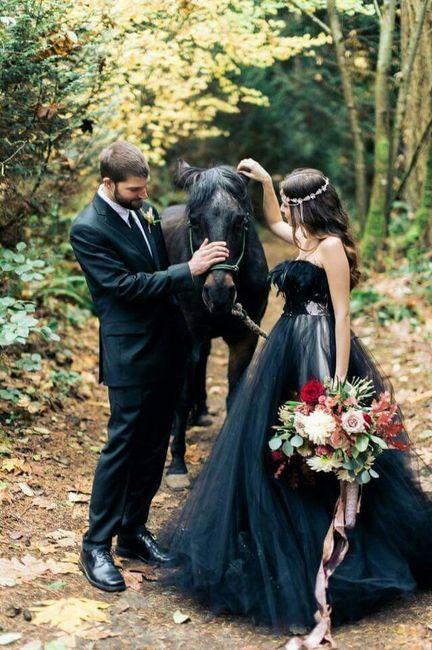 Vestidos de boda en color negro
